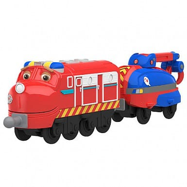 Chuggington Паровозик Уилсон с прицепом серия Die-Cast, Chuggington