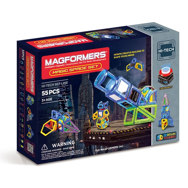 Магнитный конструктор MAGFORMERS 63140 Magic Space конструктор magformers magic pop 63130