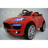 Porsche Macan O005OO VIP  с дистанционным управлением, красный, RiverToys